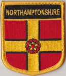 Northamptonshire Embroidered Flag Patch, style 07